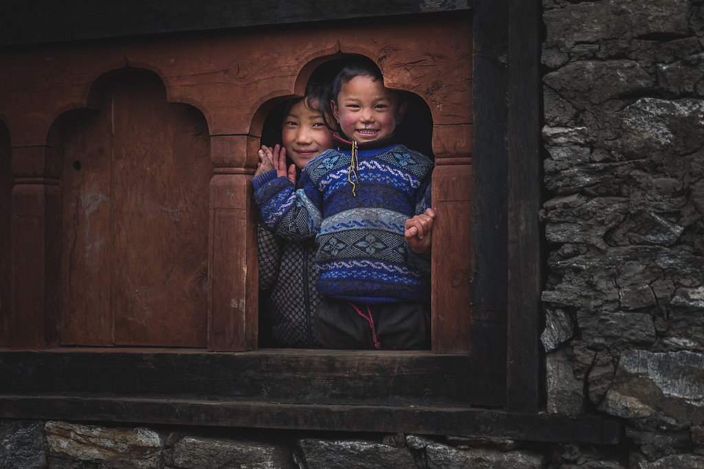 Children in Laya, Bhutan