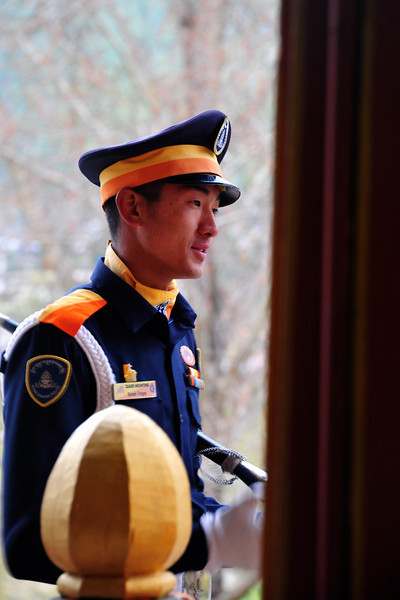 Security at Thimphu Dzong