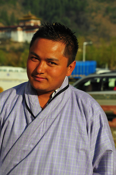 Our patient guide, Rinzin Dorji