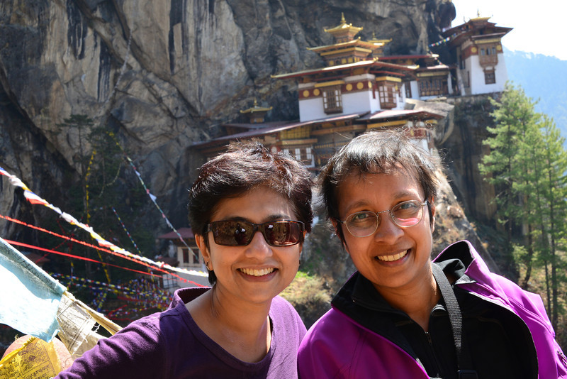 Just about a 100 stairs down a gorge, across a stream and up again to reach Taktsang...