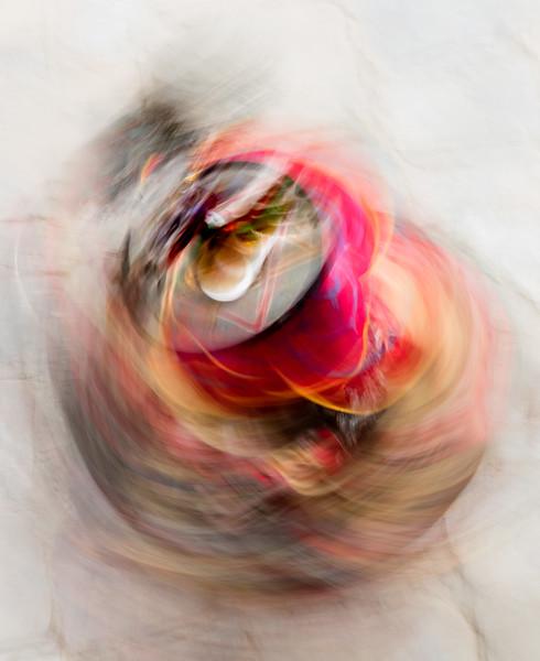 Nimalung Tshechu, Bumthang, Bhutan. A spinning black hat dancer.