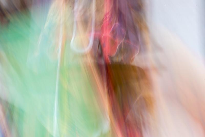 Kurjey Tshechu, Bumthang, Bhutan. A tshechu dancer creates an abstract pattern.