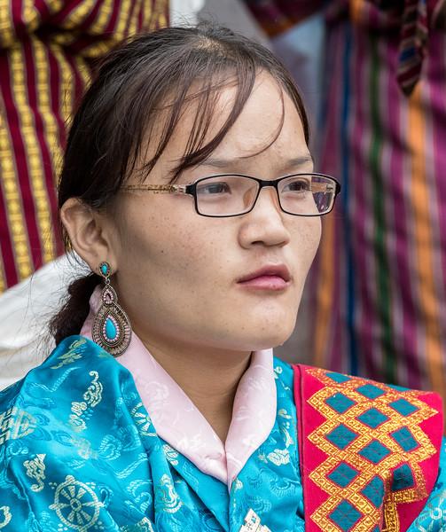 Kurjey Tshechu, Bumthang, Bhutan. A rapt audience member.