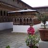 courtyard of Tango goempa