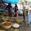 vegetable market outside Punakha - note the chillis