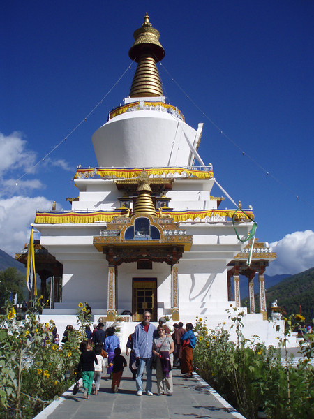 Memorial chorten above Thimphu