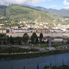 downtown Thimphu, from the balcony of the Riverview hotel