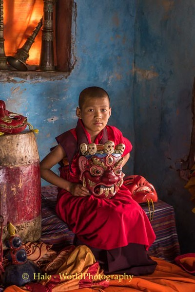 Young Monk with Tscheu Mask