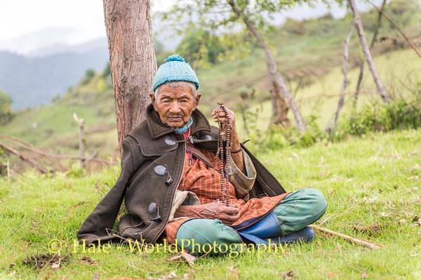 Elderly Man Worshipping