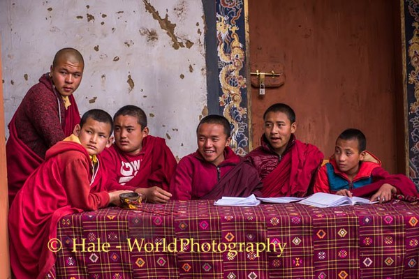 Gangtey Monastery Young Monks