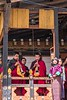 Young Monks Playing Trumpets