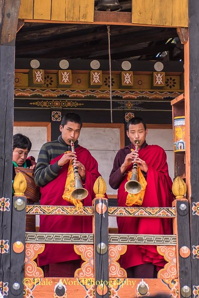 Monks Blowing Horns