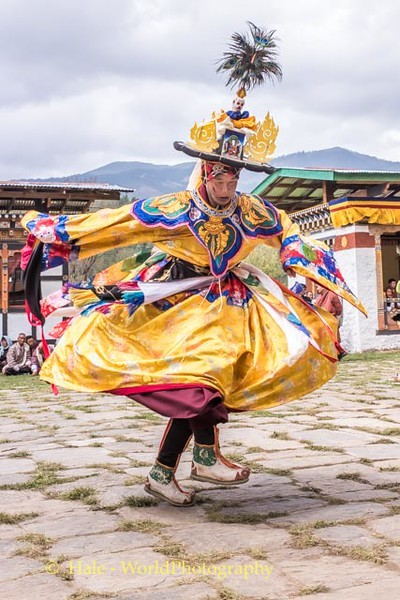 Dancer Performing A Cham