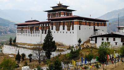 Paro Dzong houses the opening of the Tshechu