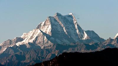 Mt Gangkhar Punsum, 7570 m, sen from Bhutan