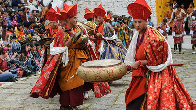 March - From the opening ceremony, Paro Tshechu