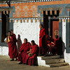 Monks at Trongsa Dzong
