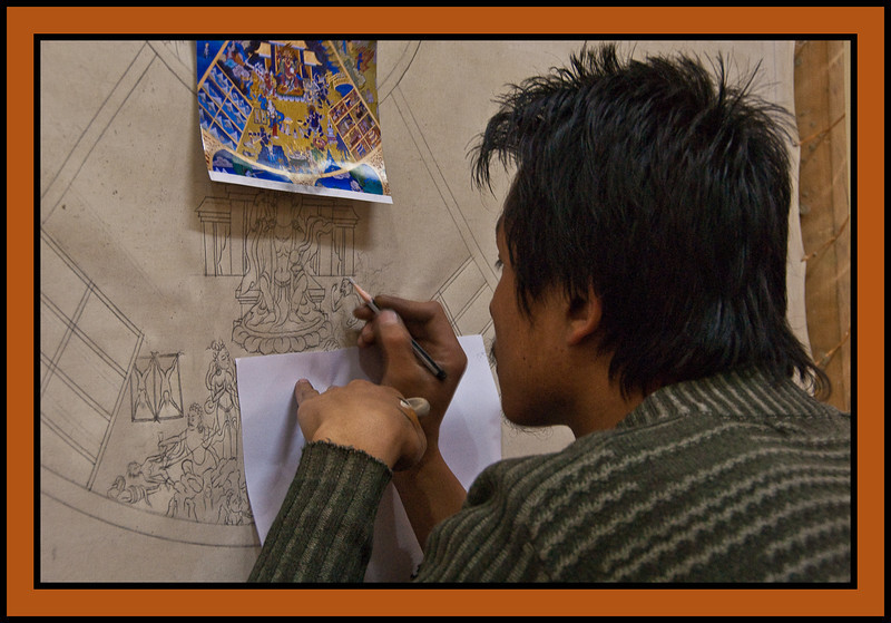 Painting Workshop, Thimpu. Bhutan