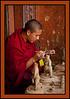 Monk Painting, Trongsa Dzong