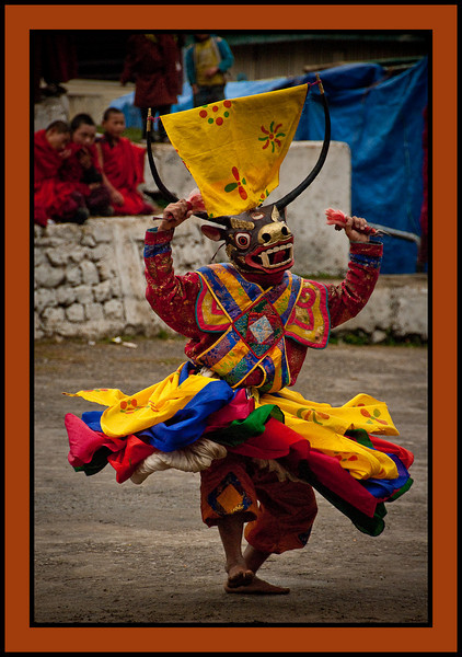 Dancer at Chukhha Festival, Bhutan