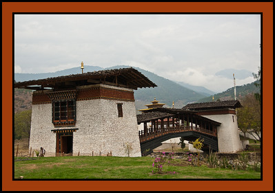 Bridge to Punakha Dzong - massive fortress/monastery constructed in the mid-1600s