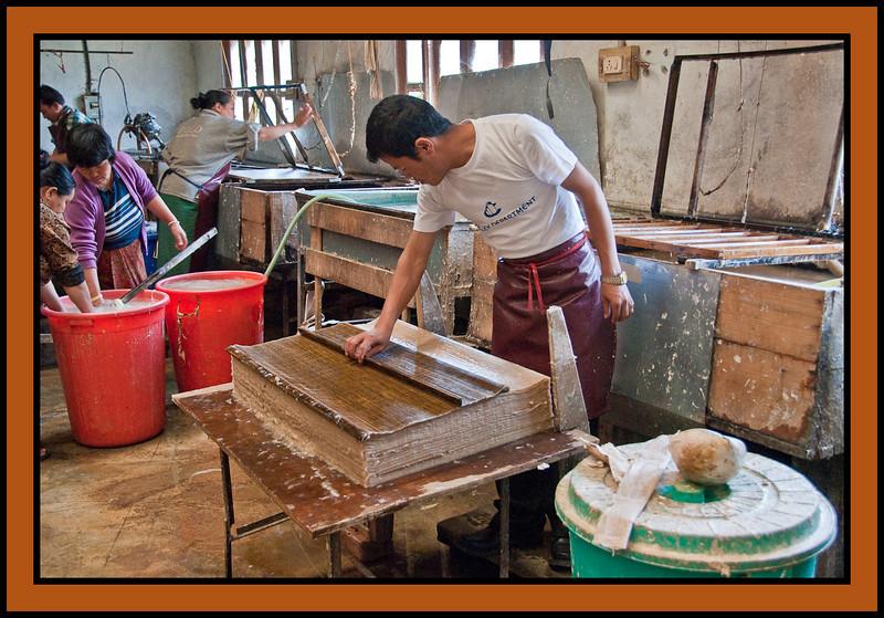 Handmade Paper Factory, Thimpu. Bhutan