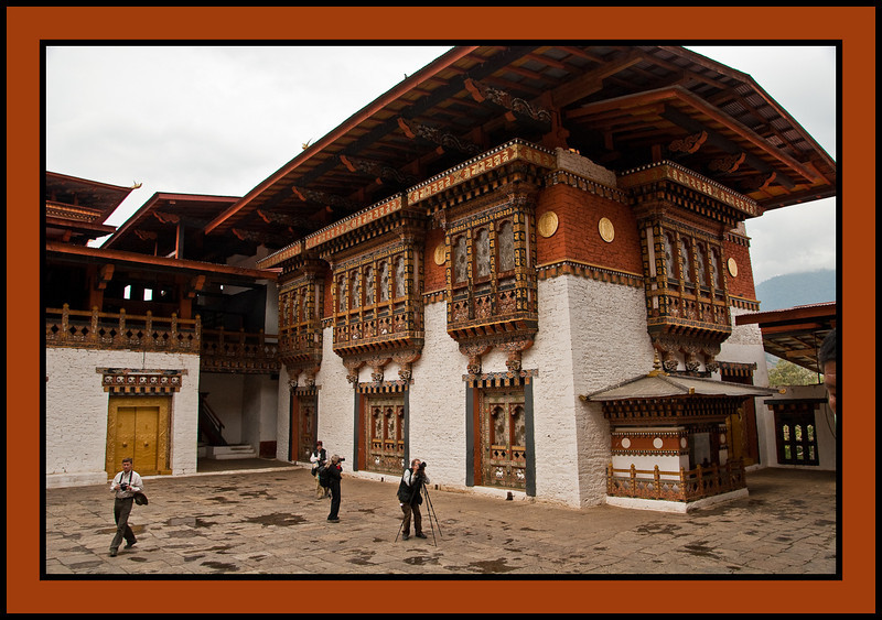The photographers - Punakha Dzong - massive fortress/monastery constructed in the mid-1600s