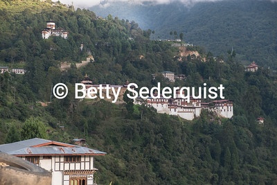Distant View of Trongsa Dzong