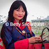 Beautiful Modern Woman at Moenian Chenmo, Bhutan