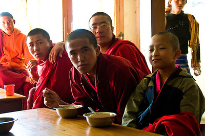 Paro-monks eating soup-2-DSC_5788