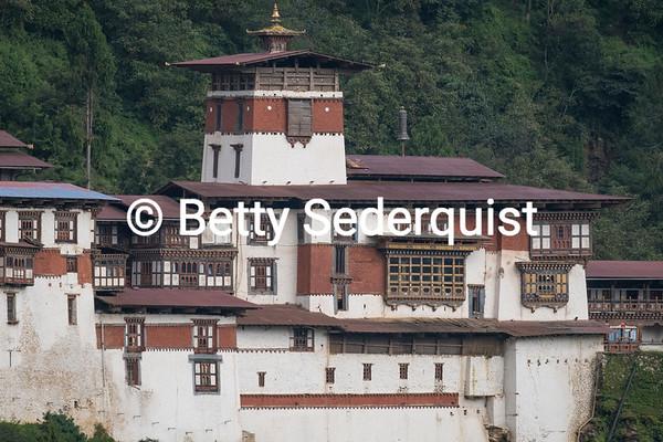 Closeup of Trongsa Dzong