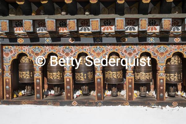Prayer Wheels and Stupas, Paro