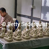 Clay Sculptor at Arts and Crafts School in Thimphu