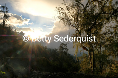 Fog and Mountains, Himalayas