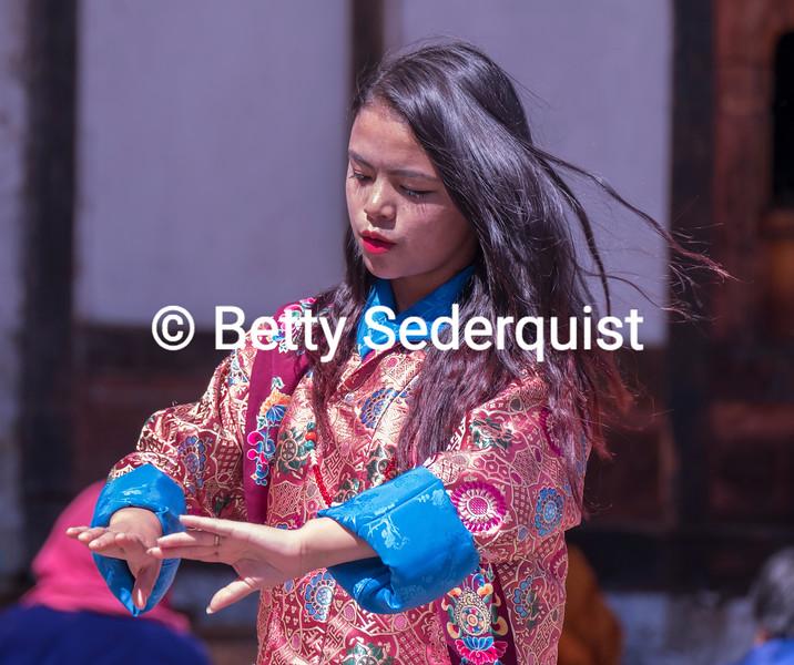 Dancer at Tamshing Phala Chhoepa Festival