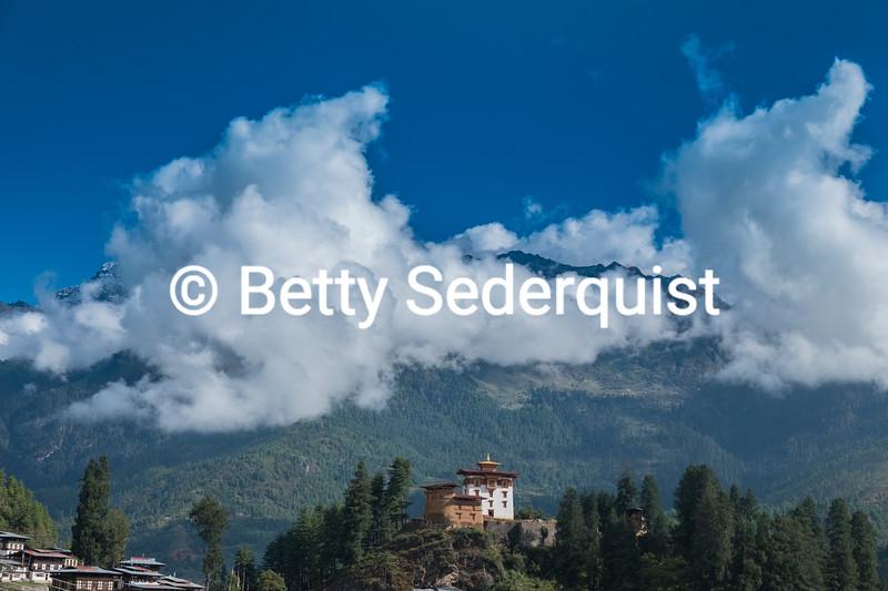 Drukgyel Dzong and Himalayas, Bhutan