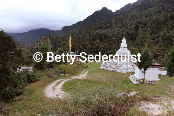 Stupa near Mountain Pass