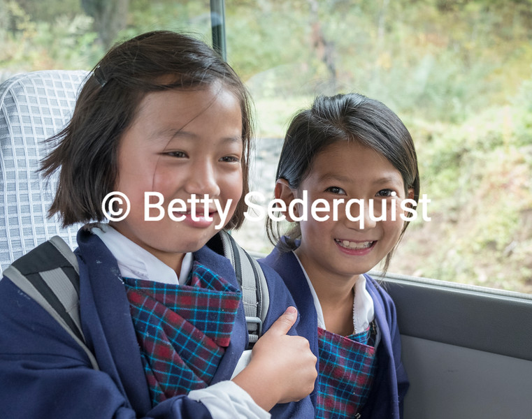 Bhutanese School Children
