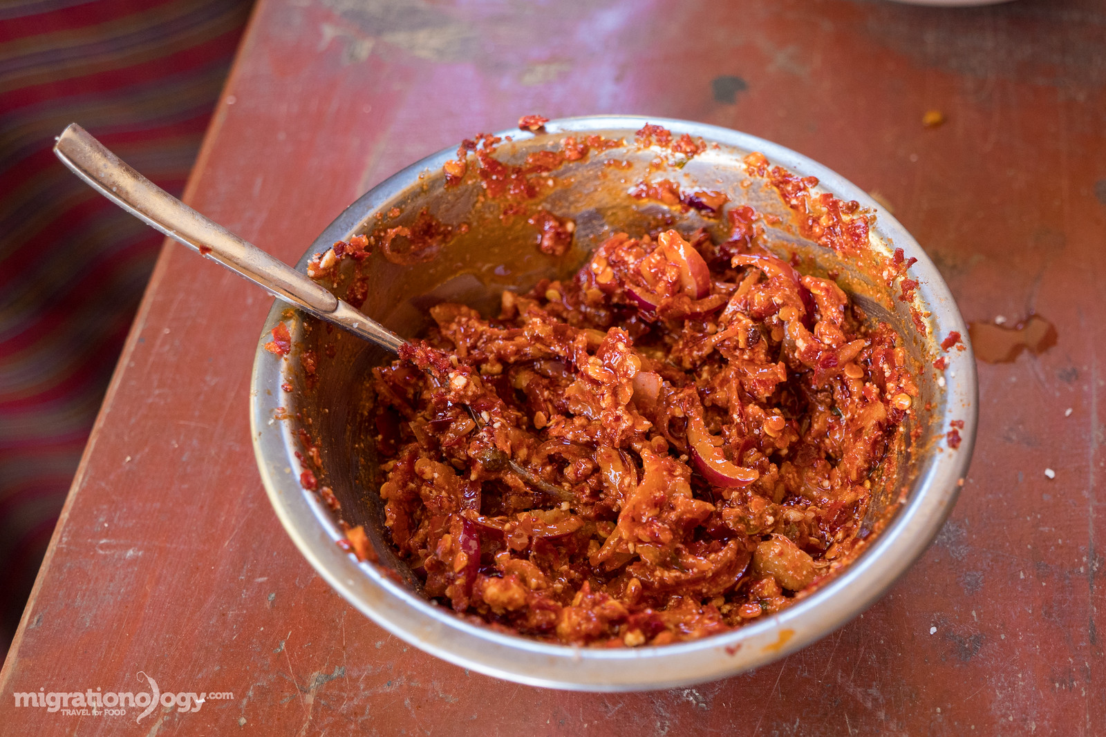 Bhutanese chili sauce