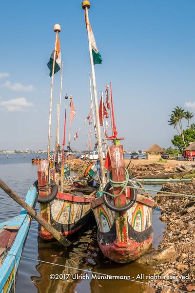 At the fishing boat landing stage of Biétry-Village, Abidjan, Côte d'Ivoire