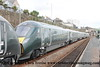 Class 800 5 Car IEP Set number 800 004 with 800 003 at the rear at Penzance with 5X90 0502 North Pole to Penzance empty stock working.  This is the first ever working of the Class 800 in Cornwall.<br /> 22nd June 2017