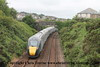 Class 800 5 Car IEP Set number 800 004 with 800 003 at the rear pass Dolcoath with 5X90 0502 North Pole to Penzance empty stock working.  This is the first ever working of the Class 800 in Cornwall.<br /> 22nd June 2017