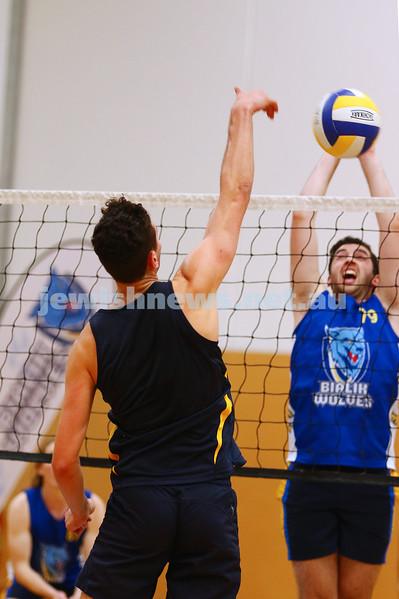 23-3-16. Bialik College Alumni v Year 12 volleyball match.  Photo: Peter Haskin