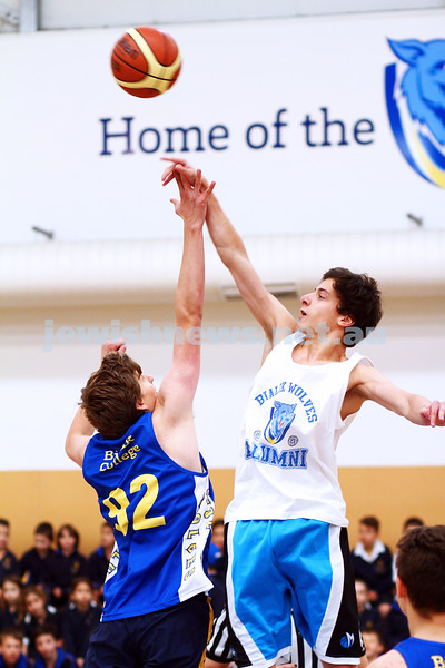 13-5-15. Bialik College. Inaugural Student v Aumni basketball game. Photo: Peter Haskin