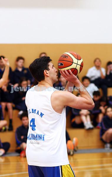 13-5-15. Bialik College. Inaugural Student v Aumni basketball game. Photo: Peter Haskin
