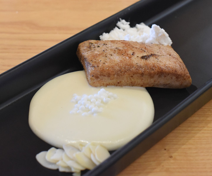 Bibich Winery - Chicken Fillet, Cream of Pag Cheese, Goat's Milk Caviar, Sliced Almonds, Olive Oil Powder