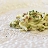 Bibich Winery - Egg White Spaghetti, Bacon, Asparagus and Chives