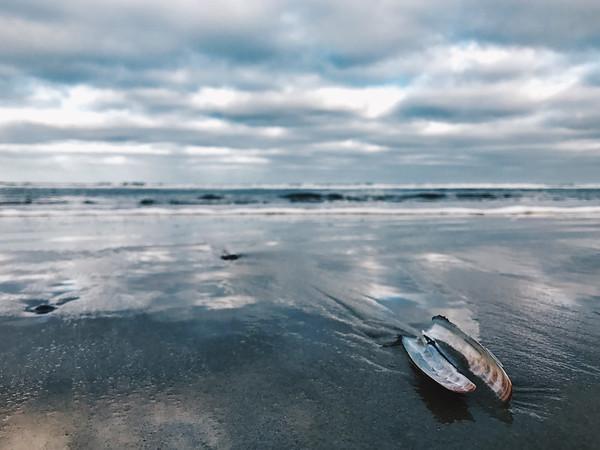 Beach, sea, clouds