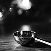 A spoon with bokeh