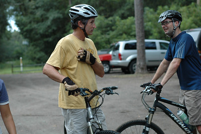 Today's ride leader Ken Foster
